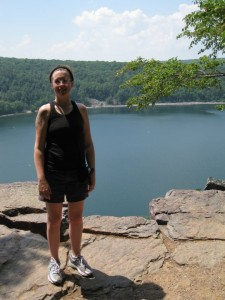 After a hot, sweaty hike at Devil's Lake State Park in Wisco