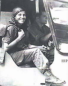 Denby Fawcett in Saigon 1967